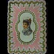 Antique Valentine Circa 1870's Sweet Message Artist Binton