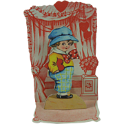 To My Sweetheart Vintage Valentine Fold Out German