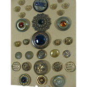 ON HOLD...30 Vintage Metal Buttons Some Huge Some Military