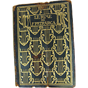 Le Rime Di F. Petrarca Miniature Book Published 1900