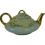 Handpainted Tea Pot Low Profile Deco Bavarian Blank