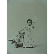 Cabinet Photo Chiquita Carnival Attraction Mini Lady