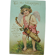 1911 Tuck's Golfing Cupid Valentine Post Card