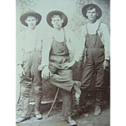Occupational Cabinet Card Photograph Circa 1880 Cowboys Farmers