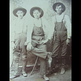 Occupational Cabinet Card Photograph Circa 1880 Cowboys Farmers