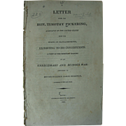 Historic Antique Publication 1808 Pickering's Letter To His Constituents