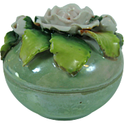 Elfinware Tiny German Floral Lusterware Round Box