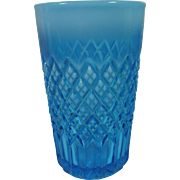 Pressed Glass Davidson Blue Pearline Tumbler