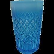 Pressed Glass Davidson Blue Pearline Tumbler