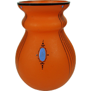 Bohemia Czech Art Glass Vase