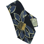 1930s-1940s Wide Necktie Bercktowne of Hollywood