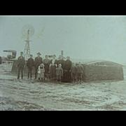 Sod House Oklahoma Territory 1906 Crawford Family Balko, Oklahoma