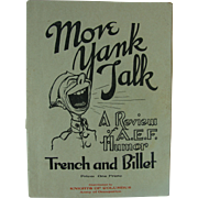 WWI Brochure Publication Magazine A.E.F. Humor