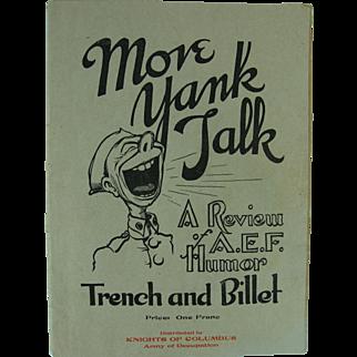 WWI Brochure Publication Magazine A.E.F. Humor