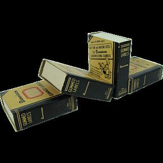 Vintage Desk Supply Gummed Labels Bookshelf Design Dennison