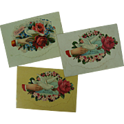 Victorian Era Calling Cards In Sweet Little Envelopes