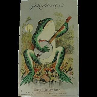 Ukulele Froggie Larkin Toilet Soap Trade Card