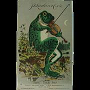 Fiddling Froggie Larkin Toilet Soap Trading Card