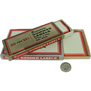 Dennison Gummed Labels Vintage Office Supply