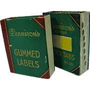 Vintage Desk Supply Gummed Labels Bookshelf Design Dennison