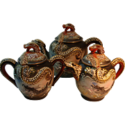 Dragon Ware Moriage 3 Piece Tea Set