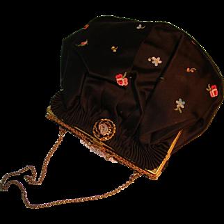 French Handmade Silk Purse Evening Bag