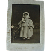 Winter Snow Baby Studio Photograph Little Victorian Girl