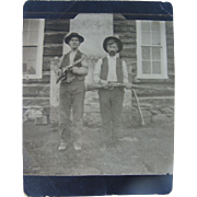 Gun Totin' Hombres Photo Pseudo Post Card