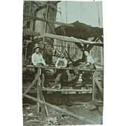 Lumber Mill Workers African American  Photo Post Card