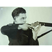 1924 Young Man Gun Shooter 8x10 Glossy Photo