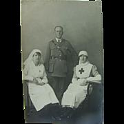 British Nurses Women At War WWI Real Photo Post Card