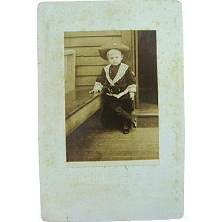 Wild West Dude Little Lord Fontleroy Cabinet Card
