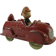 Disney Mickey Mouse Donald Duck Firetruck Sun Rubber 1940s