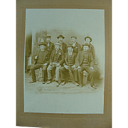 Studio Photo 1880's Group Of Gents Men In Hats