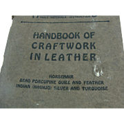 1928 Handicraft Booklet Craftwork In Leather