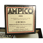 "Ampico Reproducing Piano Roll ""Chimes"" 100805  X-Large Roll For Ampichron"