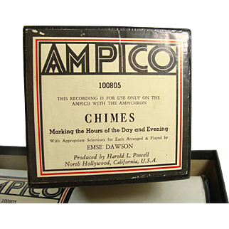"""Ampico Reproducing Piano Roll """"Chimes"""" 100805  X-Large Roll For Ampichron"""