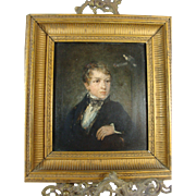Oil Painting Portrait Young English Gentleman 19th Century