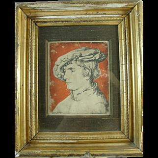 Print After Hans Holbein Rhoda Sande Gallery 1950s
