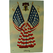Patriotic Liberty Post Card 1940
