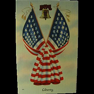 Patriotic Liberty Post Card 1940