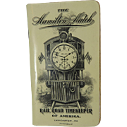 1912 Hamilton Railroad Timekeeper Watch Booklet