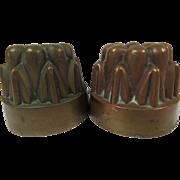 Antique French Canneles De Bordeaux Copper Molds