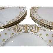 Set 8 French Plates Avenir Limoges  G. Demartine & Cie