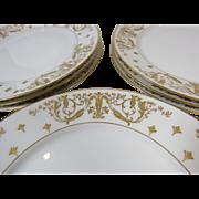 8 French Plates Avenir Limoges  G. Demartine & Cie