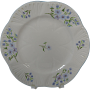 Pair Shelley Dessert Plates Blue Rock
