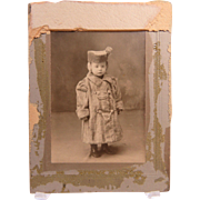 Winter Cherub Sweetie Pie In Fur Coat And Hat Circa 1890's