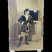 Scottish Kilt Girl Photo One Arm