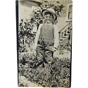 Farmer Boy Freckled Face Photo Postcard