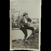 Pipe Smoking Woman 1920 Alaska Photograph Snapshot